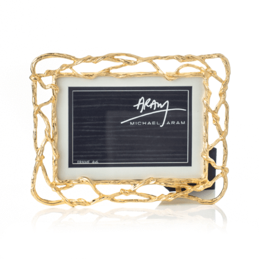 MICHAEL ARAM Wisteria Gold 4x6/5x7 Frame - Carats Jewelry and Gifts