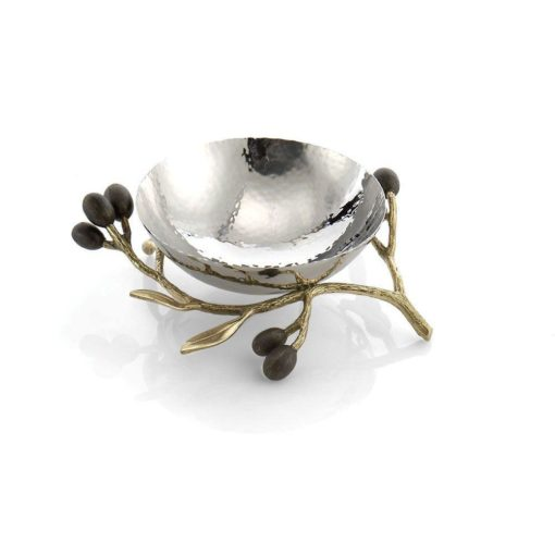 MICHAEL ARAM OLIVE BRANCH GOLD NUT DISH - Carats Jewelry and Gifts