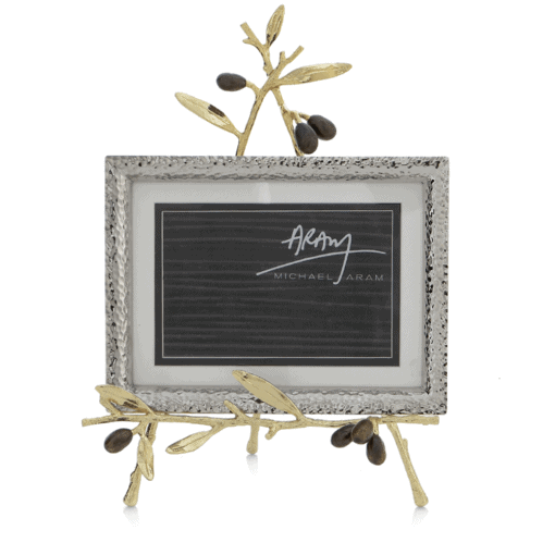 MICHAEL ARAM OLIVE BRANCH GOLD EASEL FRAME - Carats Jewelry and Gifts