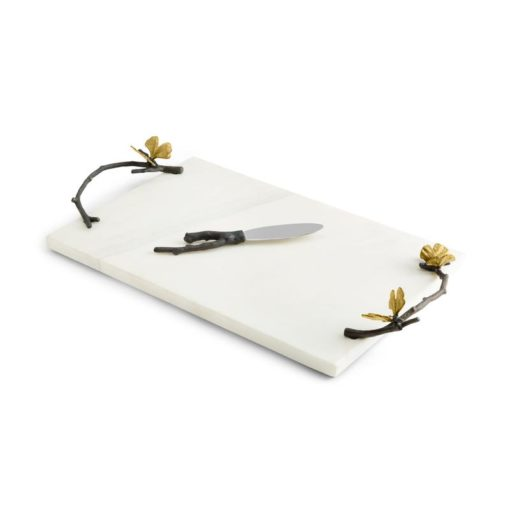 Butterfly Ginkgo Cheeseboard With Knife - Carats Jewelry and Gifts