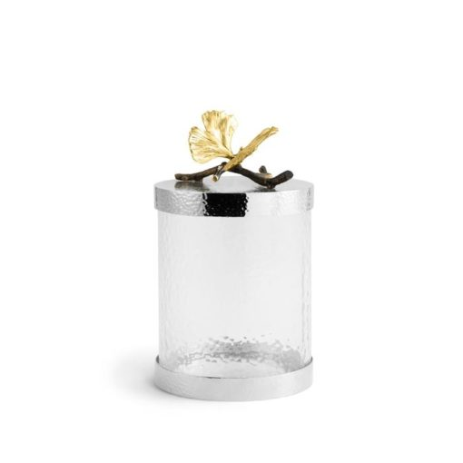 Butterfly Ginkgo Canister Small - Carats Jewelry and Gifts